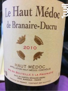 Le Haut Médoc de Branaire-Ducru - Château Branaire-Ducru - 2015 - Rouge