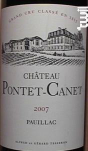 Château Pontet-Canet - Château Pontet-Canet - 2007 - Rouge