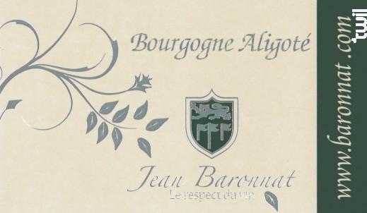 Bourgogne Aligoté - Baronnat Jean - 2017 - Blanc
