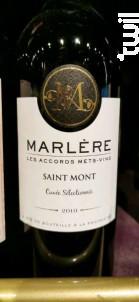 Saint Mont - Cuvée Sélectionnée - Maison Marlère - 2010 - Rouge