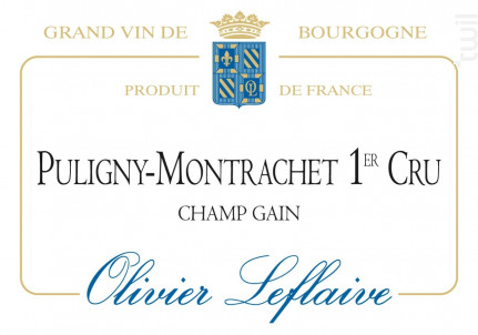 Puligny-Montrachet Premier Cru Champ Gain - Maison Olivier Leflaive - 2013 - Blanc