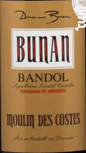 Moulin des Costes - Domaines Bunan - Moulin des Costes - 2017 - Rouge