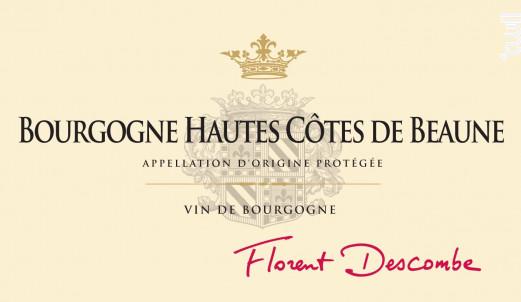 HAUTES COTES DE BEAUNE - Vins Descombe - 2015 - Rouge