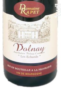 Volnay Les Echards - Domaine Rapet François & Fils - 2013 - Rouge