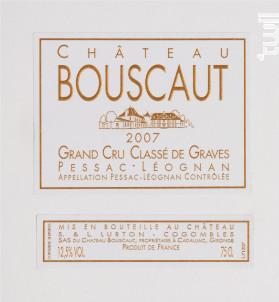 Château Bouscaut - Château Bouscaut - 2007 - Blanc
