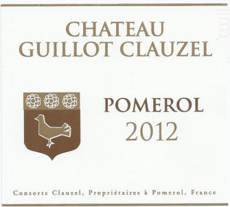 Château Guillot Clauzel - Château Guillot Clauzel - 2012 - Rouge