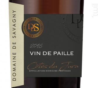 VIN DE PAILLE 37,5 cl - DOMAINE DE SAVAGNY - 2013 - Blanc