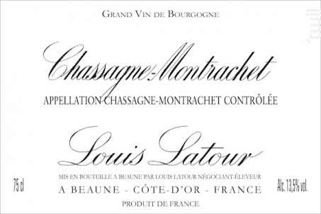 Chassagne-Montrachet - Maison Louis Latour - 2014 - Rouge