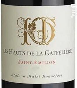 Les Hauts De La Gaffelière - Saint-Emilion - Les Hauts de la Gaffelière - 2014 - Rouge