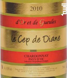Le Cep de Diane - Château d'Or et de Gueules - 2017 - Blanc