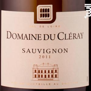 Sauvignon Domaine du Cléray - SAUVION - CHATEAU DU CLERAY - 2017 - Blanc