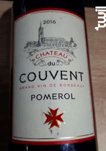 Chateau du Couvent - Château du couvent - 2016 - Rouge