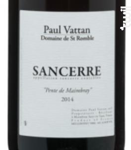 Sancerre Pente de Maimbray - Domaine de Saint Romble-Paul Vattan - 2015 - Rouge