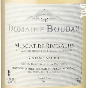 Muscat de RIVESALTES - Domaine BOUDAU - 2019 - Blanc