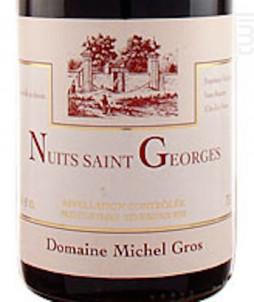 NUITS SAINT GEORGES - Domaine Michel Gros - 2015 - Rouge