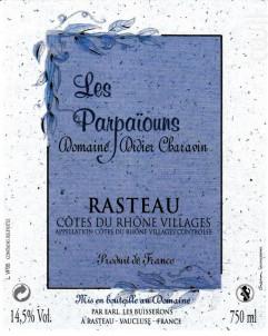 Cuvée Les Parpaïouns - Domaine Didier Charavin - 2016 - Rouge