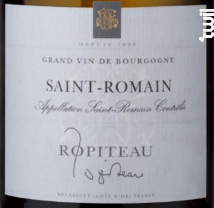 Saint-Romain - Ropiteau Frères - 2015 - Blanc