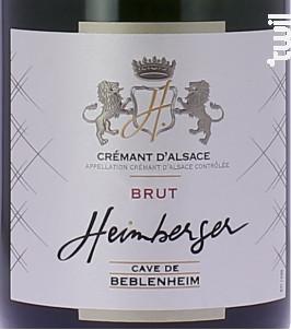 Heimberger Blanc - Cave de Beblenheim - Non millésimé - Effervescent