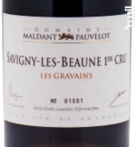 SAVIGNY-LÈS-BEAUNE Premier Cru « Aux Gravains » - Domaine Maldant - Pauvelot - 2015 - Rouge