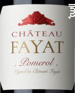 Château Fayat - Château Fayat - 2015 - Rouge