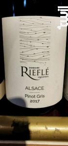 Alsace Pinot Gris - Domaine Rieflé-Landmann - 2017 - Blanc