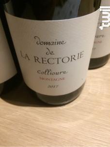 MONTAGNE - Domaine de la Rectorie - 2018 - Rouge