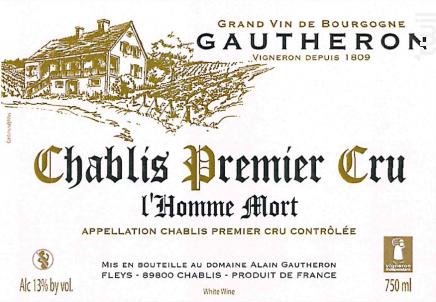 Chablis Premier Cru L'Homme Mort - Domaine Gautheron Alain et Cyril - 2018 - Blanc