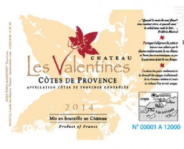 Les Valentines - Château les Valentines - 2014 - Rosé