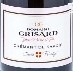 Crémant de Savoie - Domaine Grisard Jean-Pierre et fils - 2018 - Effervescent