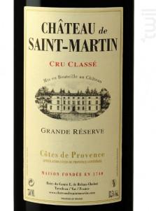 Grande Réserve - Château de Saint-Martin - 2016 - Rouge
