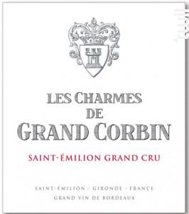 Les Charmes de Grand Corbin - Château Grand Corbin - 2014 - Rouge