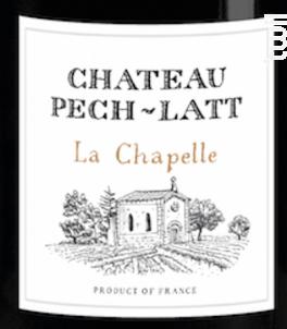 LA CHAPELLE - Chateau Pech-latt - 2017 - Rouge