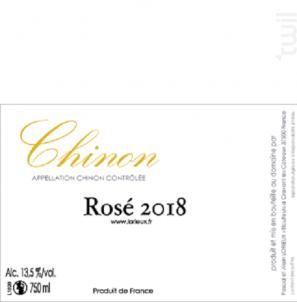 Chinon Rosé - Alain et Pascal Lorieux - 2018 - Rosé