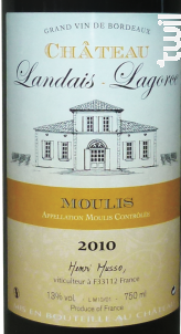 Château Landais Lagorce - Château de Cach - 2015 - Rouge