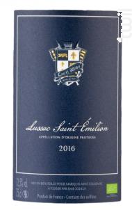 Lussac Saint Emilion Bio - Castel Albion - 2016 - Rouge