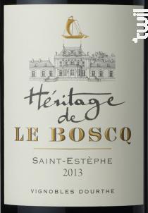 Héritage de le Boscq - Dourthe - 2013 - Rouge