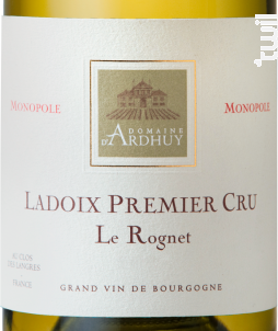 Ladoix 1er Cru Le Rognet - Domaine d'Ardhuy - 2018 - Blanc