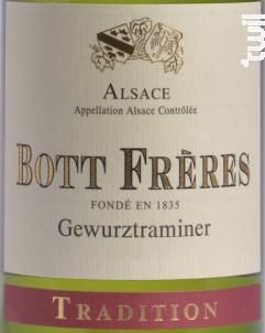 Gewurztraminer Tradition - DOMAINE BOTT FRERES - 2017 - Blanc