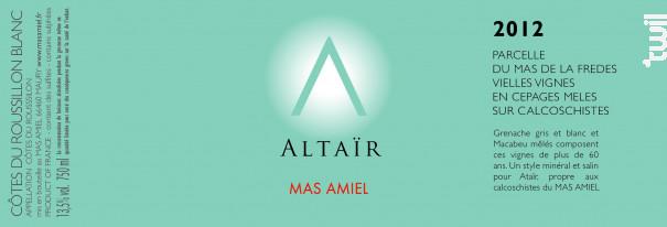 Altaïr - Mas Amiel - 2017 - Blanc