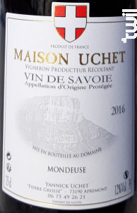 Mondeuse - DOMAINE UCHET - 2017 - Rouge