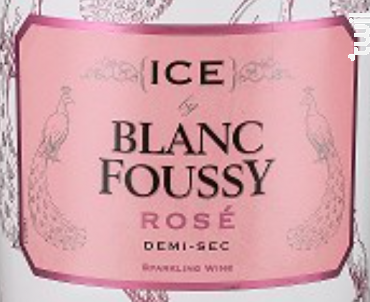 ICE BY BLANC FOUSSY ROSE - Blanc Foussy - Grandes Caves Saint Roch - Non millésimé - Effervescent