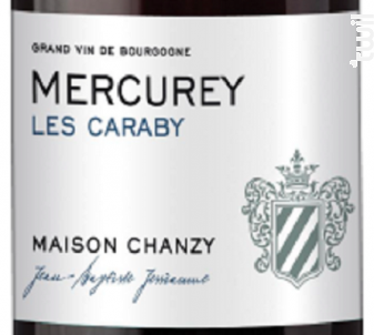 MERCUREY CARABY - Maison Chanzy - 2017 - Rouge
