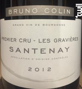 Santenay Premier Cru Les Gravières - Domaine Bruno Colin - 2017 - Rouge