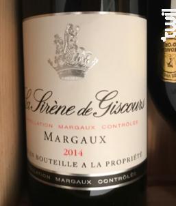 La Sirène de Giscours - Château Giscours - 2014 - Rouge