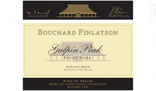 Galpin peak - pinot noir - BOUCHARD FINLAYSON - 2017 - Rouge