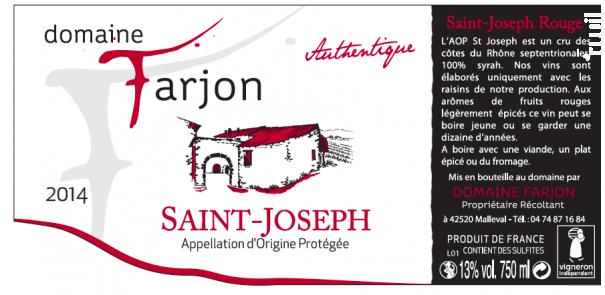 Authentique - Domaine Farjon - 2016 - Rouge