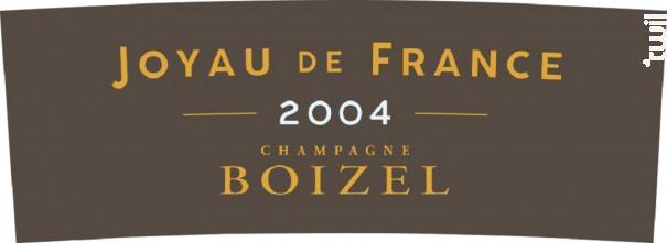 Joyau de France - Champagne BOIZEL - 2004 - Effervescent