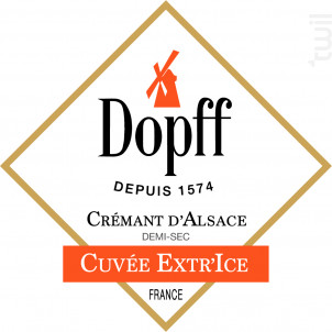 Crémant Cuvée Extr'Ice Demi Sec - Dopff Au Moulin - Non millésimé - Effervescent