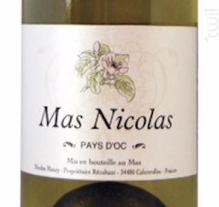 MAS NICOLAS - MAS NICOLAS - 2014 - Blanc