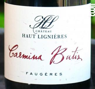 Carmina Butis - Château Haut Lignières - 2015 - Rouge